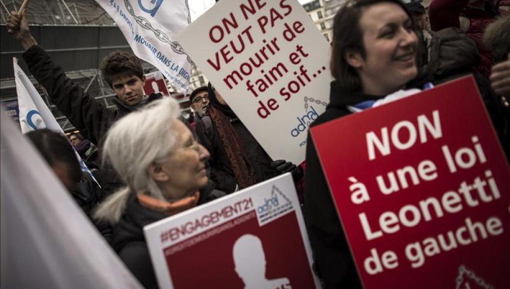 Marcha contra la eutanasia