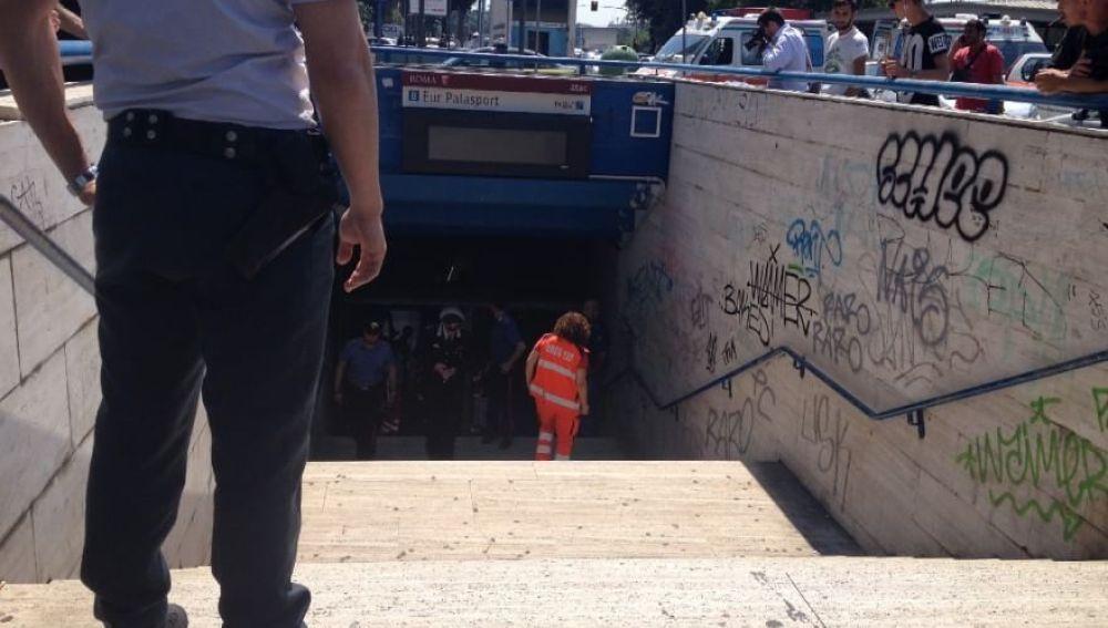 Accidente de metro en Roma