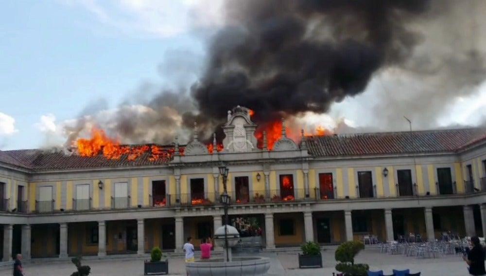 Incendio en el Ayuntamiento de Brunete