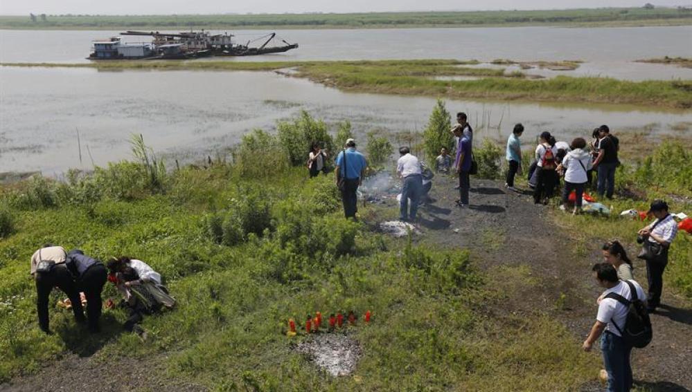 Lugar del naufragio de un barco en China