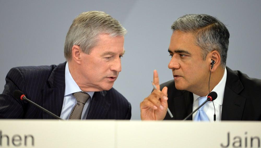 Jürgen Fitschen y Anshu Jain, copresidentes del Deutsche Bank