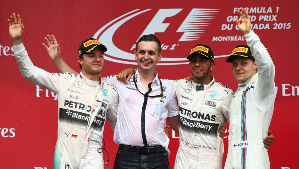 El podio del GP de Canadá 2015