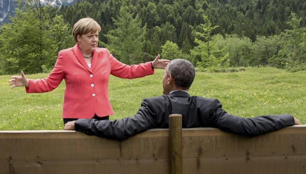 Merkel y Obama, durante la cumbre