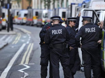 Agentes de la policía de Londres