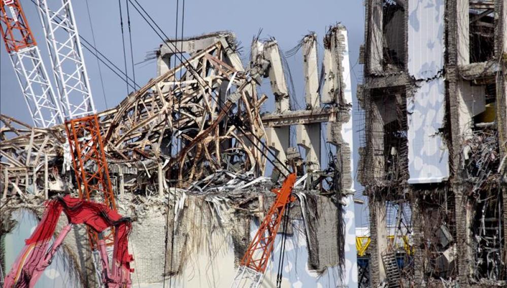 Daños causados en el reactor número 3 de Fukushima.