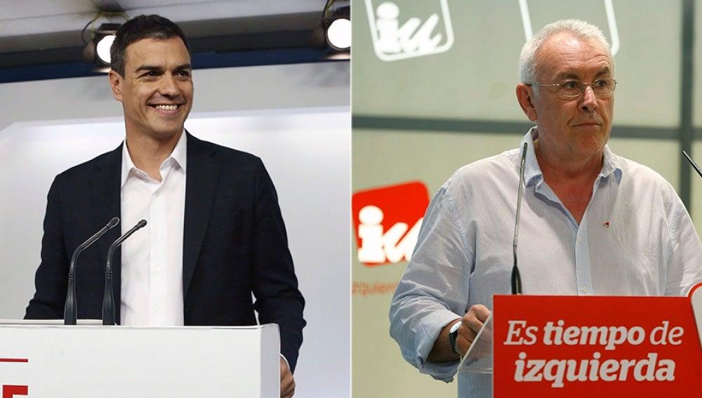 Pedro Sánchez y Cayo Lara