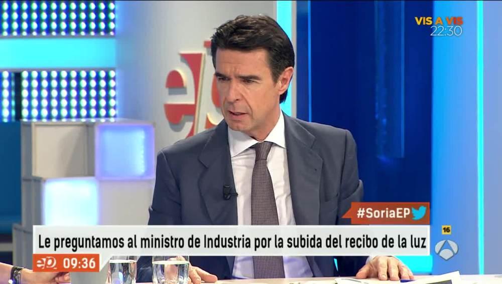 José Manuel Soria, ministro de Industria, en Espejo Público