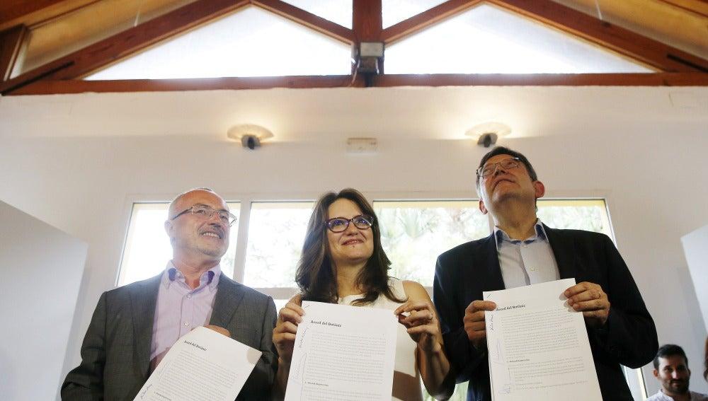 Pacto tripartito de izquierdas en Valencia