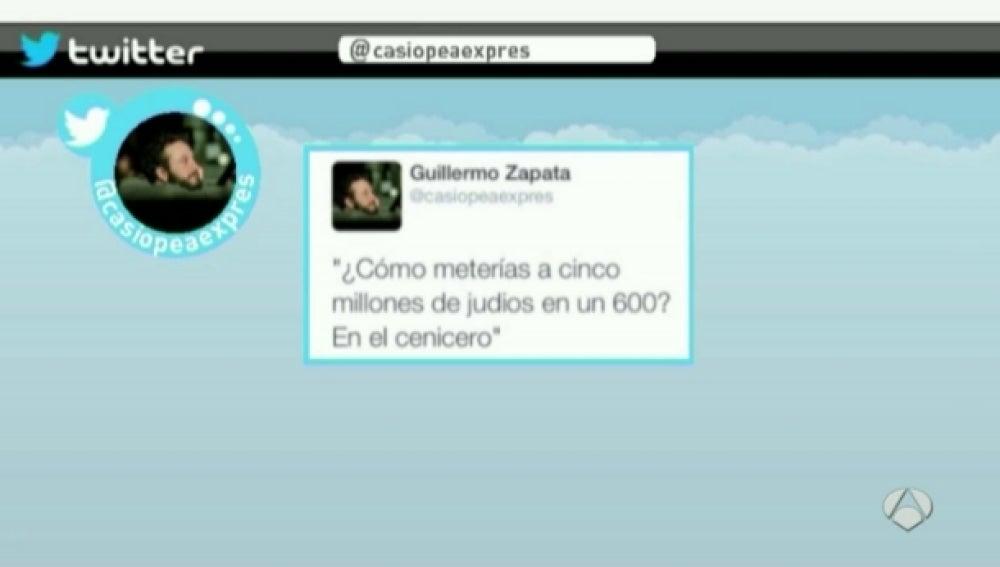 Tuit polémico de Guillermo Zapata
