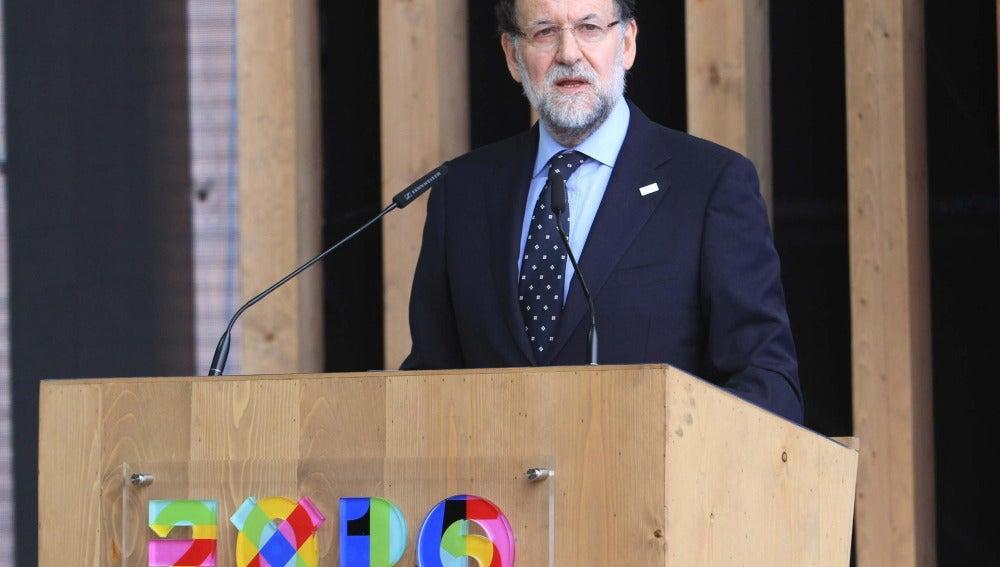 Mariano Rajoy en la EXPO de Milán 2015