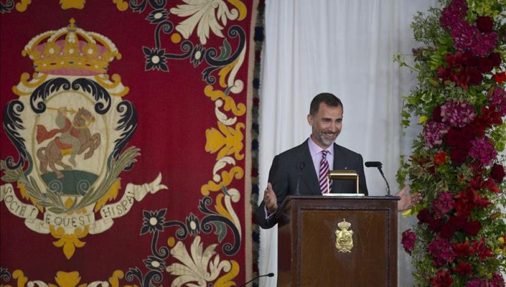 El Rey Felipe VI en una ponencia en Zarzuela.