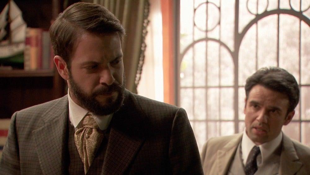 Carmelo advierte a Severo de que si no convence a Sol   debe dejarla marchar