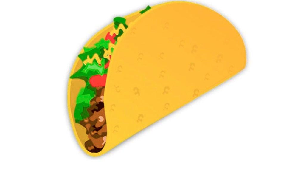 Emoticono del taco que va a lanzar Emojipedia.