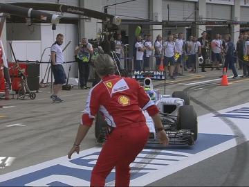 Massa casi atropella a Arrivabene en los Libres del GP de Austria