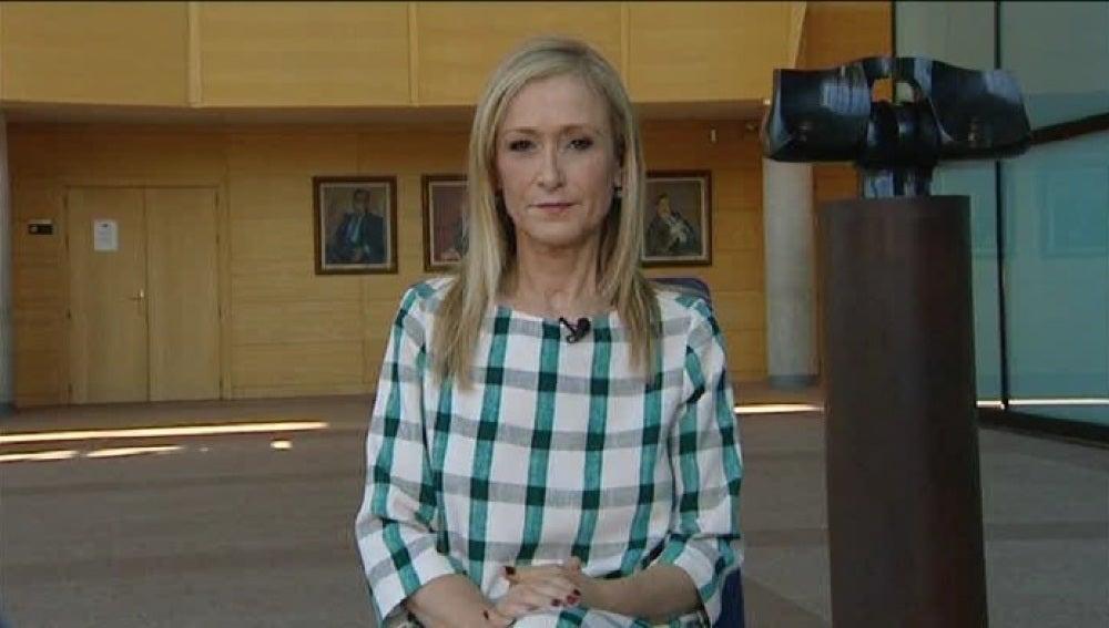 Cristina Cifuentes, en una entrevista en Espejo Público