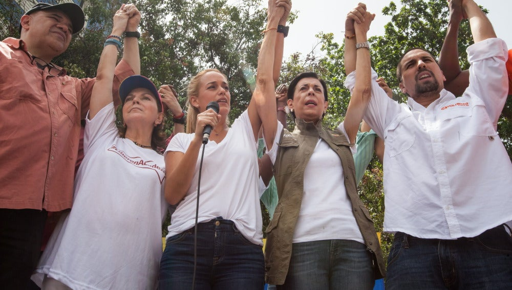"""Nueva manifestación de la oposición en apoyo a los """"presos políticos"""" en Venezuela"""