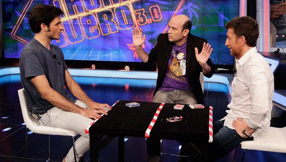 Jandro, Carlos Sainz y Pablo Motos en El Hormiguero 3.0