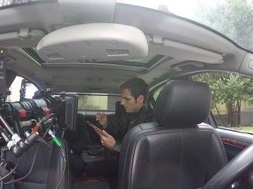 Grabando en el interior de un coche