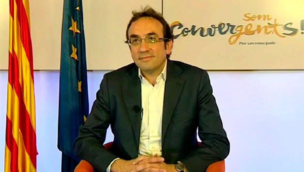 """Josep Rull: """"Aspiramos a conseguir una mayoría absoluta el 27-S""""."""
