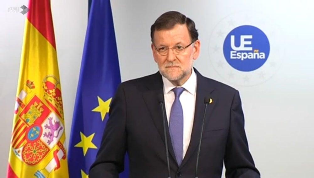 Mariano Rajoy, tras la Cumbre Europea