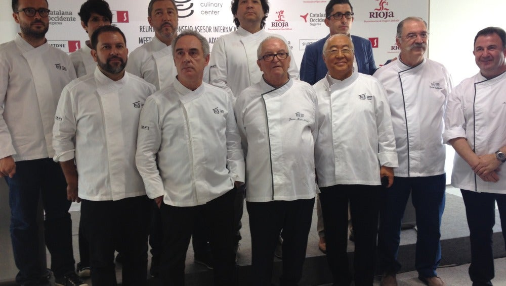 Los chefs, reunidos en el Basque Culinary Center