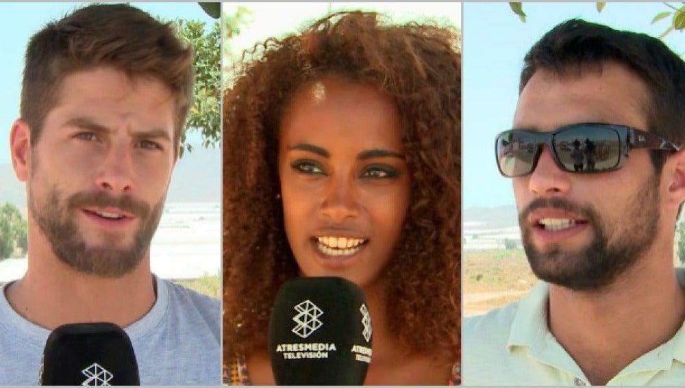 Luís Fernández, Yaima Ramos y Jesús Castro