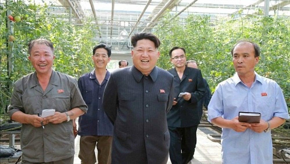 Kim Jong-un en su granja
