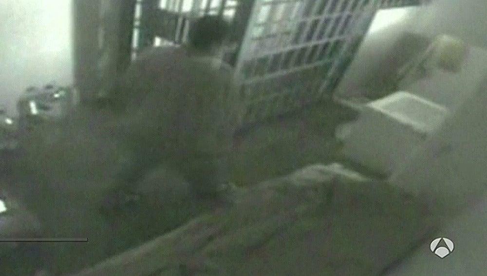 'El Chapo' Guzmán instantes antes de escapar