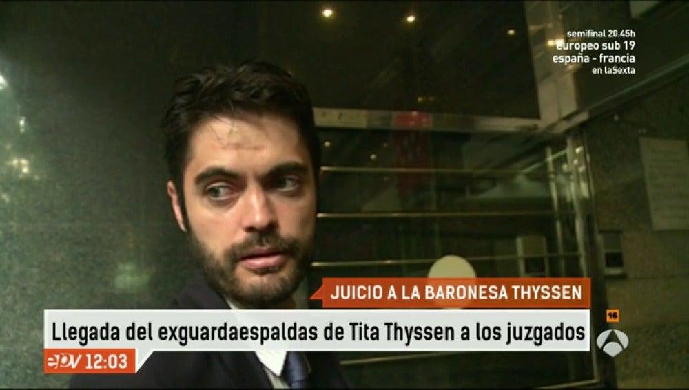 Antena 3 tv el exescolta de tita le acusa de ofrecerle for Espejo publico hoy completo