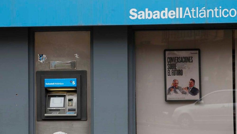 Cajero del banco Sabadell
