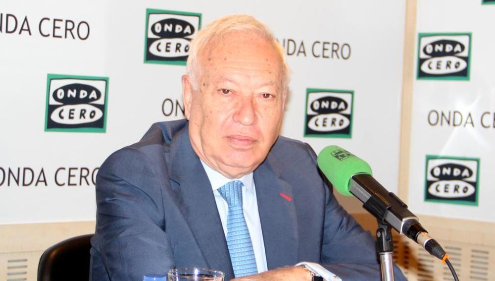 El Ministro de Exteriores, José Manuel García Margallo, en una entrevista en Onda Cero