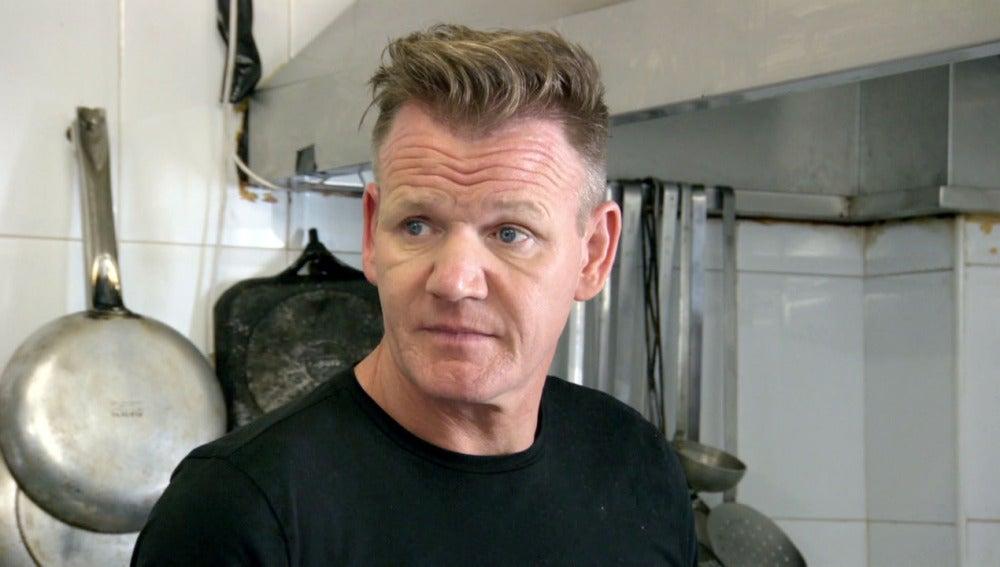 Gordon Ramsay en un restaurante de Fuengirola