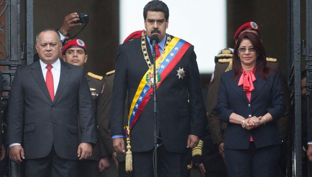 Nicolás Maduro, en un acto en Caracas