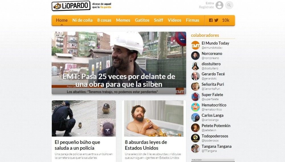 Liopardo se posiciona como número 1 en el ranking de webs de humor más vistas de España
