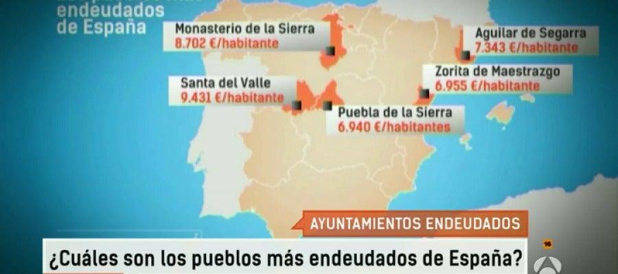 Antena 3 tv cu les son los pueblos m s endeudados de for Antena 3 espejo publico hoy