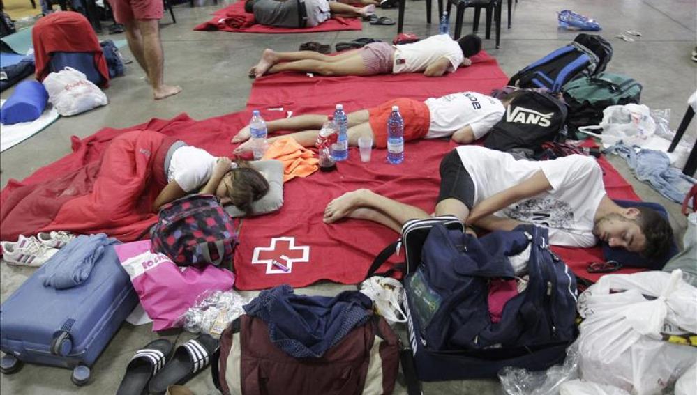Los 'sounders' descansan tras la cancelación de conciertos por la lluvia
