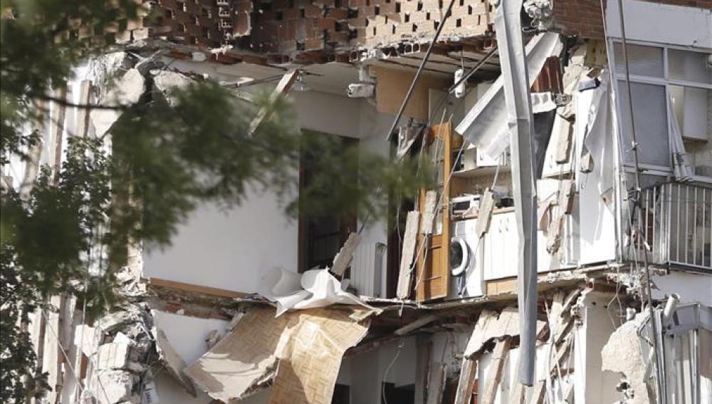 Se derrumba un edificio de viviendas en Madrid, sin víctimas