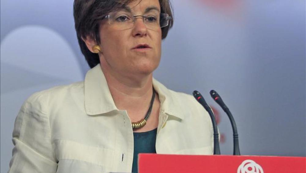 Purificación Causapié portavoz socialista en el Ayuntamiento de Madrid.