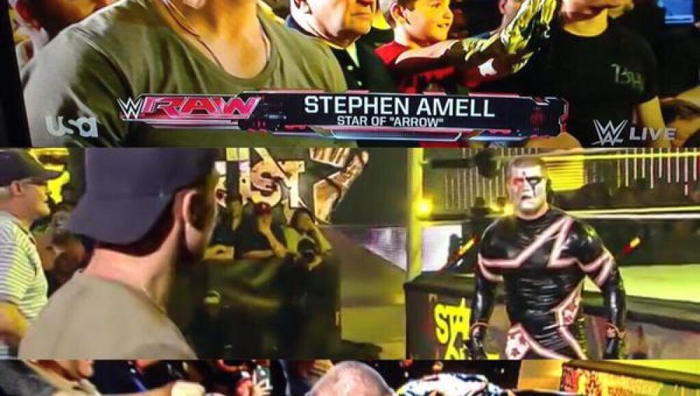 Stardust se encara con Stephen Amell, 'Arrow'