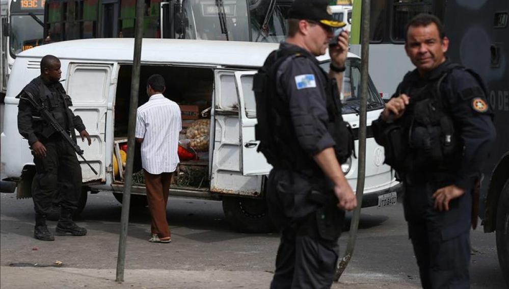 Agentes de policía en Brasil