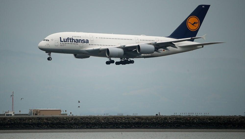 Avión de la aerolínea Lufthansa