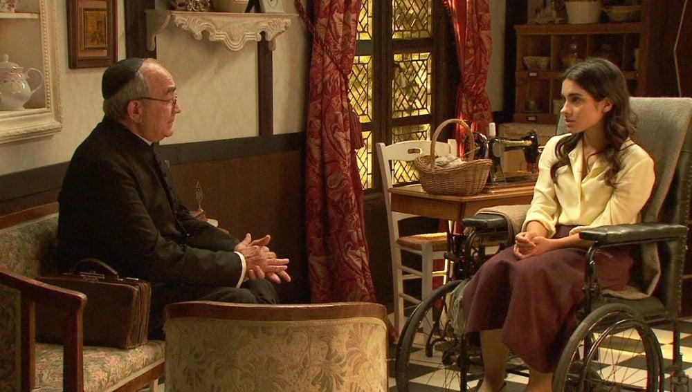 Inés pide confesarse ante don Anselmo