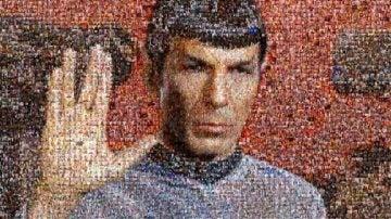 Mosaico de la cara de Leonard Nimoy hecho de 'selfies'