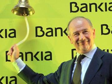 Rato toca la campana en la salida a bolsa de Bankia