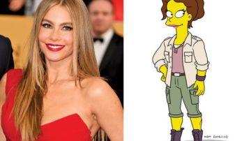 Sofía Vergara en 'Los Simpson'