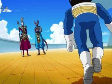Vegeta con dos brazos izquierdos en el quinto episodio de 'Dragon Ball Z'