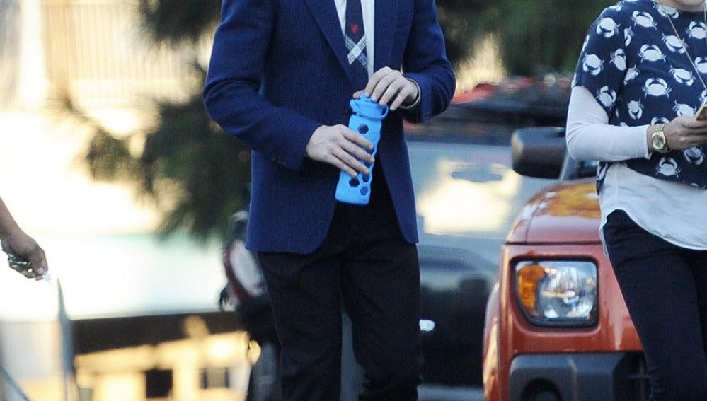 Ryan Gosling en una pausa del rodaje de 'La la land'