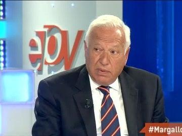 José Manuel García Margallo, ministro de Exteriores, durante una entrevista en Espejo Público