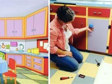 Una pareja construye su cocina a imagen y semejanza de la de 'Los Simpson'
