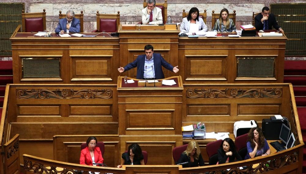 Alexis Tsipras, en el Parlamento griego